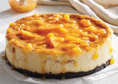 oreo peach cheesecake