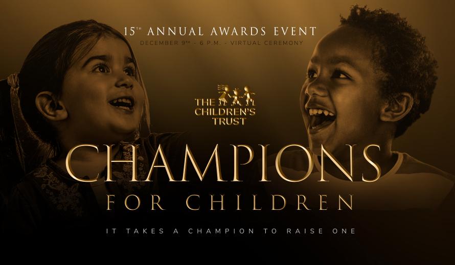 La ceremonia de premiación de Champions for Children's es el 9 de diciembre.