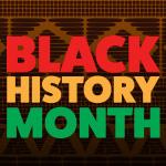Letrero en rojo brillante_ naranja y verde donde se lee Black History Month.