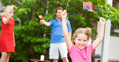 Responsible parents should be in charge of fireworks, even sparklers.