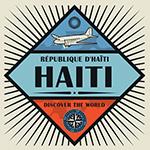 Antiguo afiche de viajes promocionando Hait_