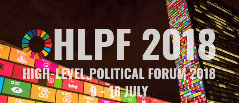 High Level Political Forum 2018 Banner