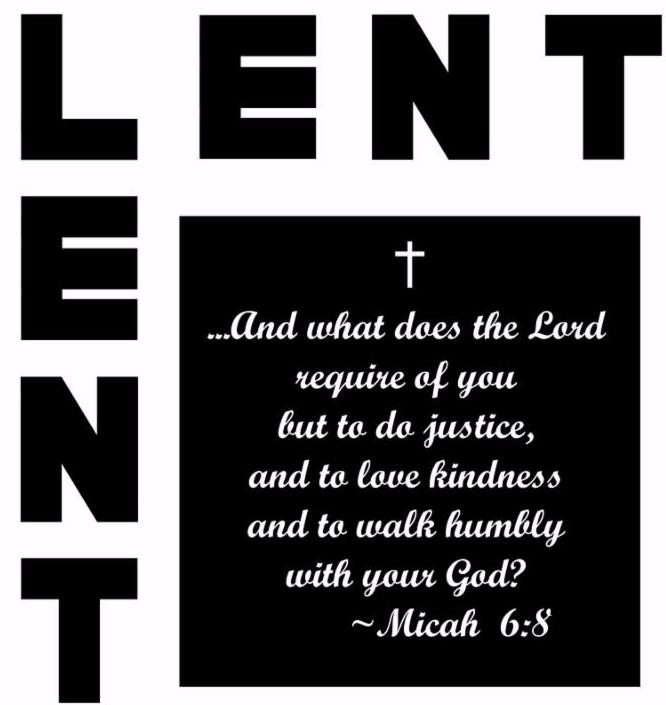 lent icon with quote from the book of micah