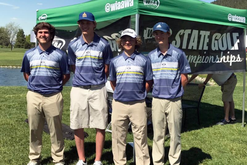 Members of the THS boys golf team pose for a picture at the state tournament.