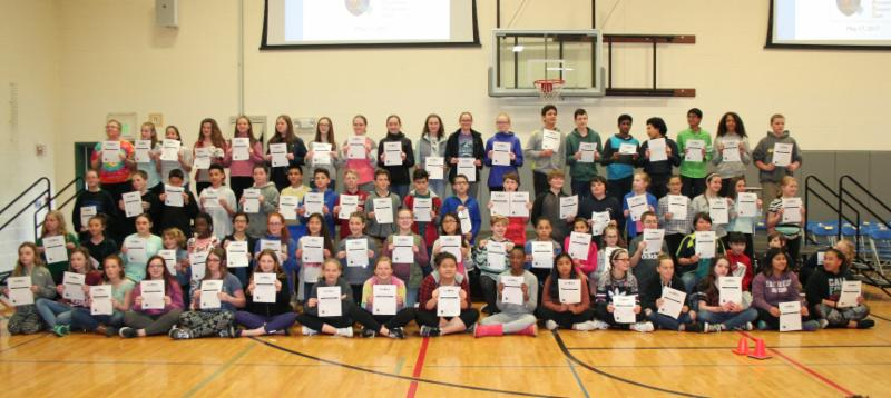 Students at Cedar River were recognized for Future Ready skills