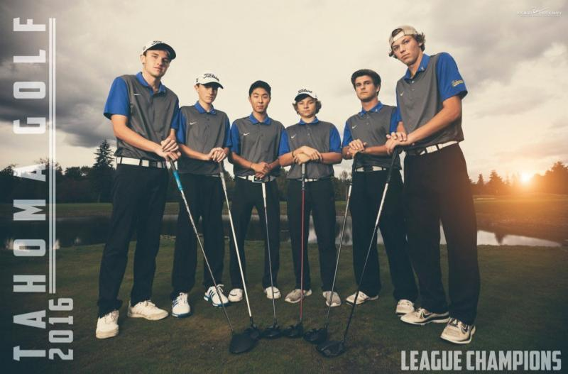Members of the Tahoma boys golf team