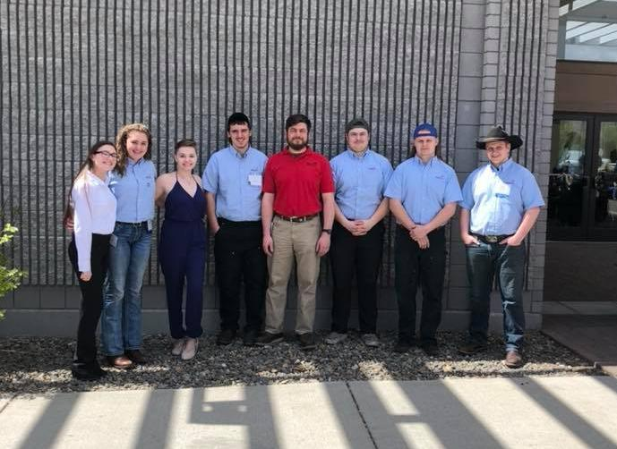 SkillsUSA students at the state competition