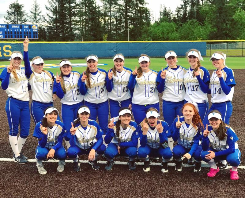 Members of the Tahoma Bears fastpitch team