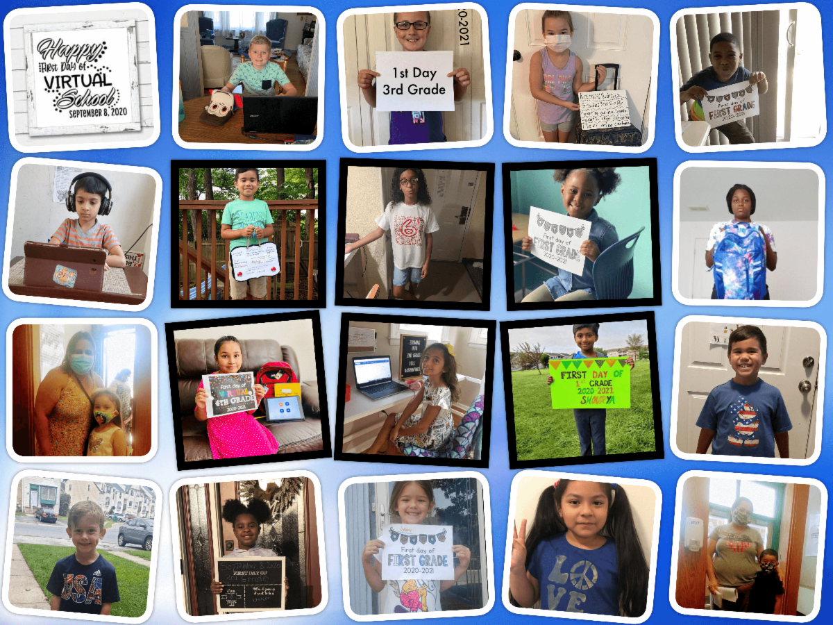 Collage of Christina School District Students - First Day of School