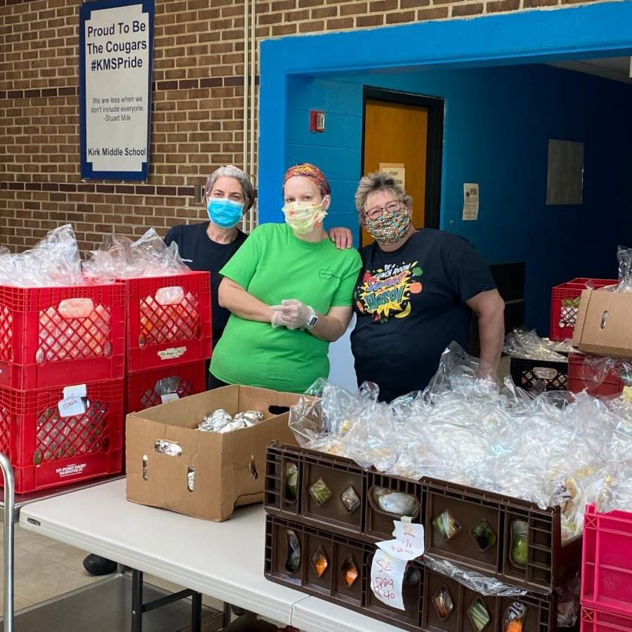 Christina School District - Food Distribution at Kirk Middle School