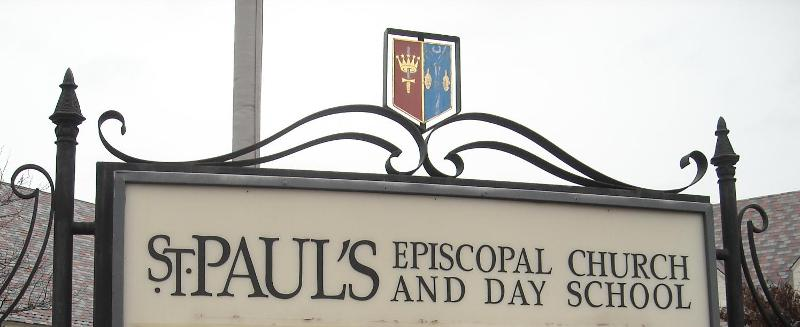 St. Paul's Exterior Sign at 40th and Main