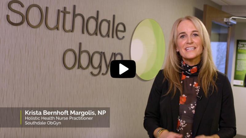 krista margolis, nurse practitioner, on screen  for the video