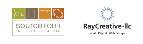 Square Four and Ray Creative logos