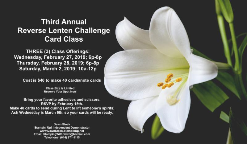 2019 Reverse Lenten Challenge Class