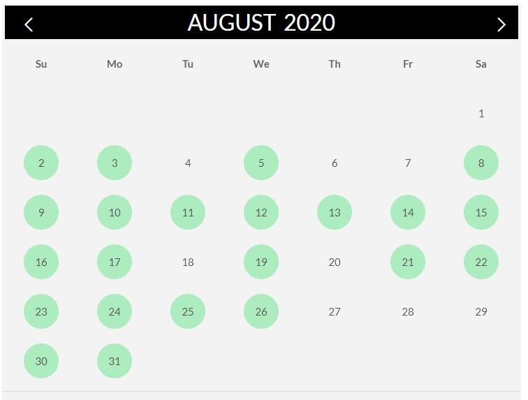 2020.08 Calendar
