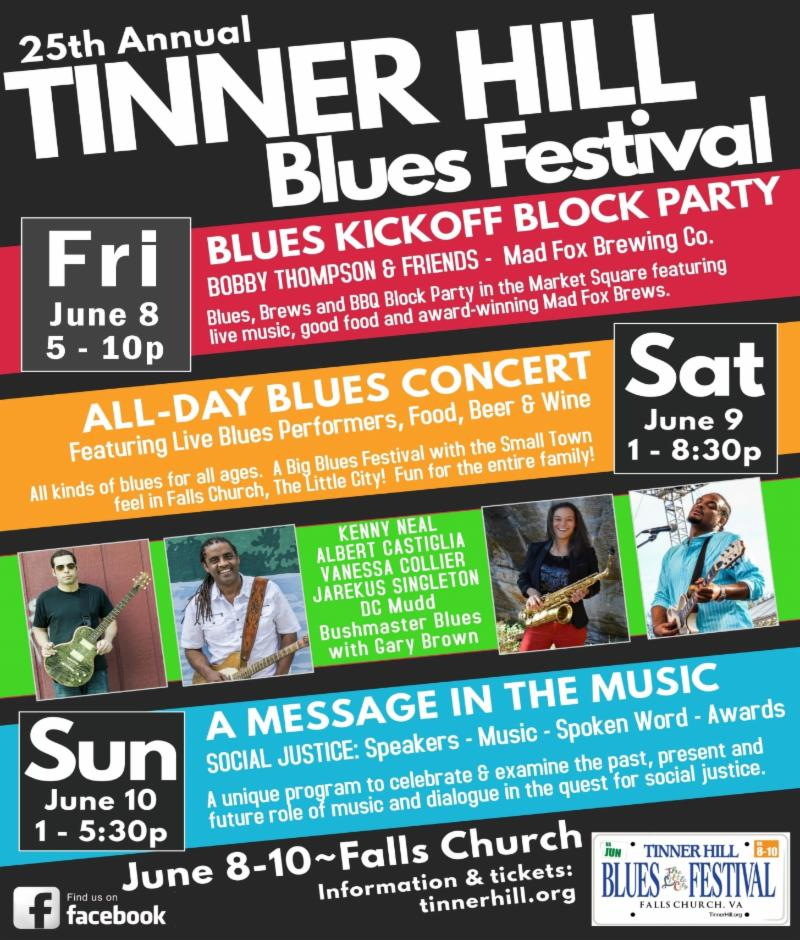 It's almost here! 2018 Tinner Hill Blues Festival