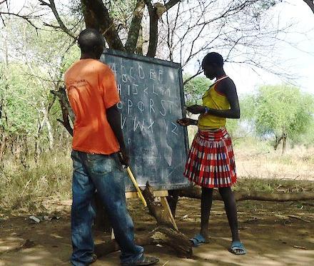 Pokot literacy student