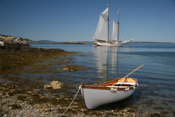 Anchored for a picnic
