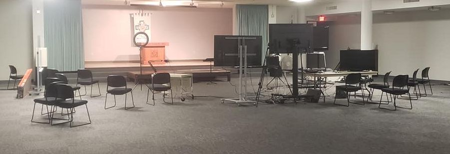 Lovers Lane Deaf Ministry space a large room with stage