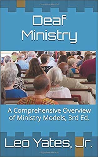 Blue book cover with back photo of congregants in pews