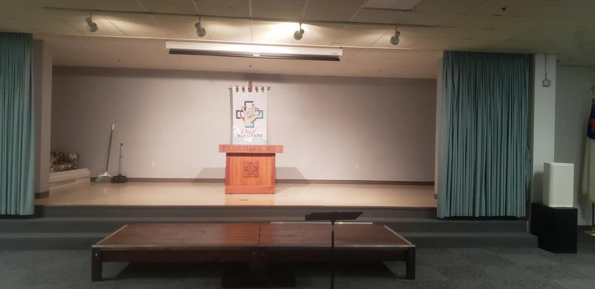 Lovers Lane Deaf Ministry stage with the altar