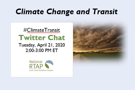 Climate Change and Transit Twitter Chat Infographic