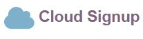 Cloud Signup Icon