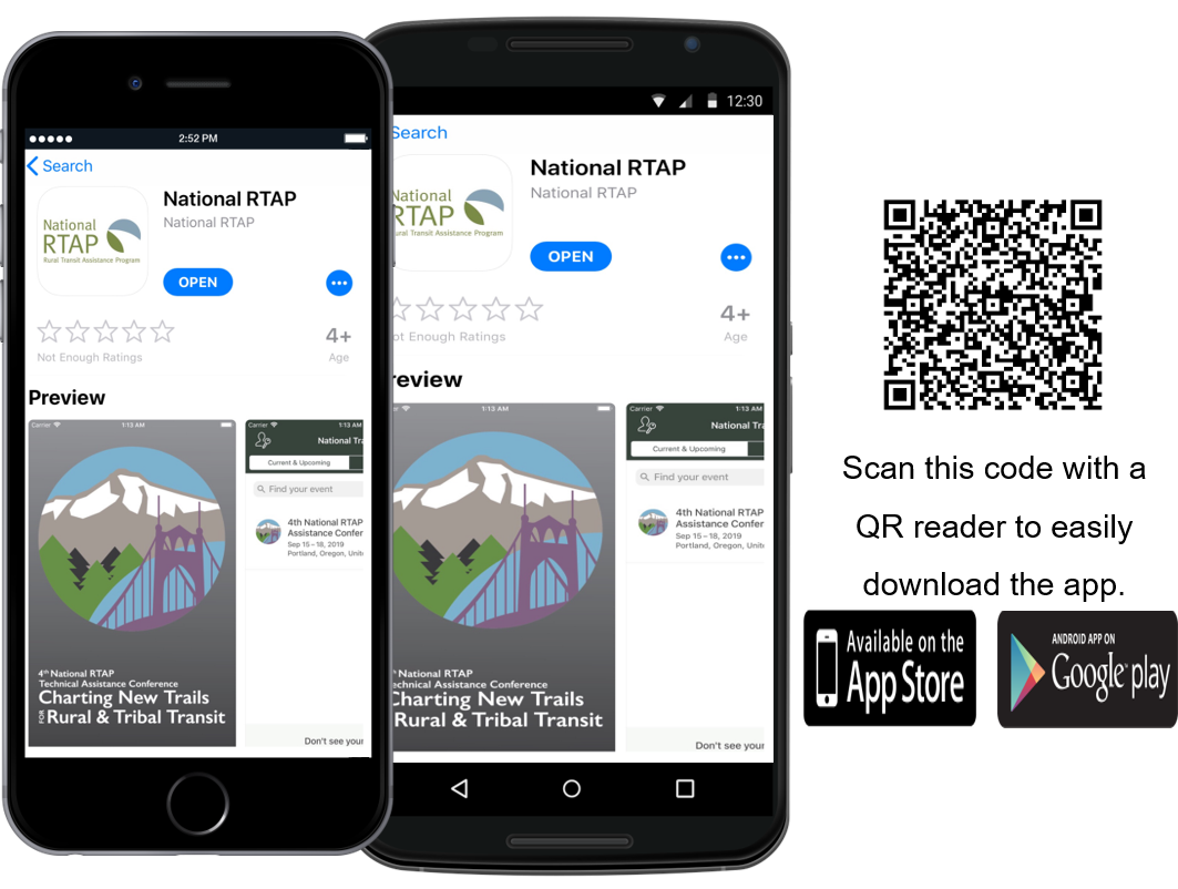 National RTAP Conference App with QR Code