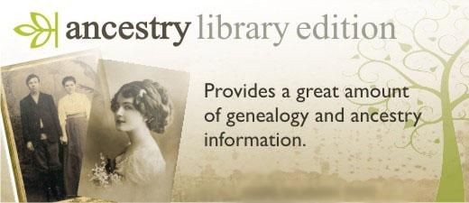 Ancestry Library Edition provides a great amount of genealogy and ancestry information. Image of old photographs.