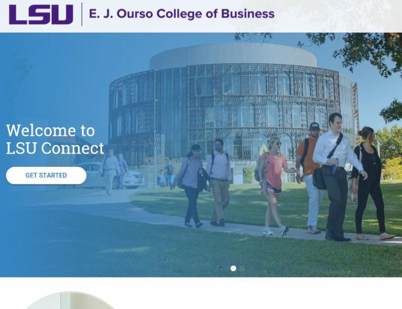 LSU Connect home page screenshot