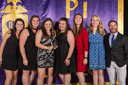 Pi Sigma Epsilon students and award