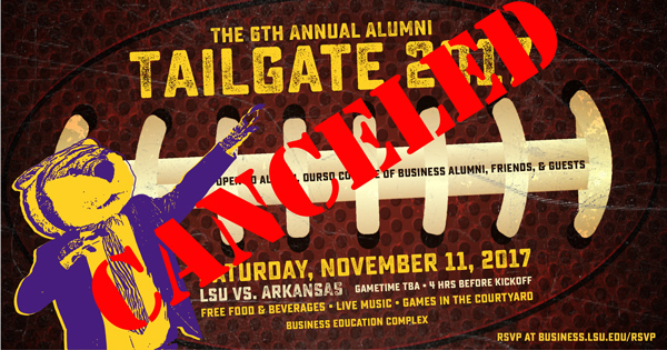 Alumni Tailgate has been canceled.