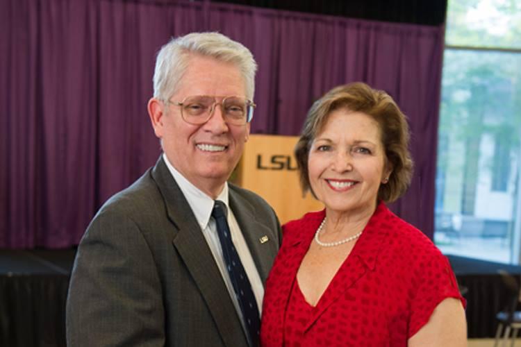 Emmet and Toni Stephenson at LSU