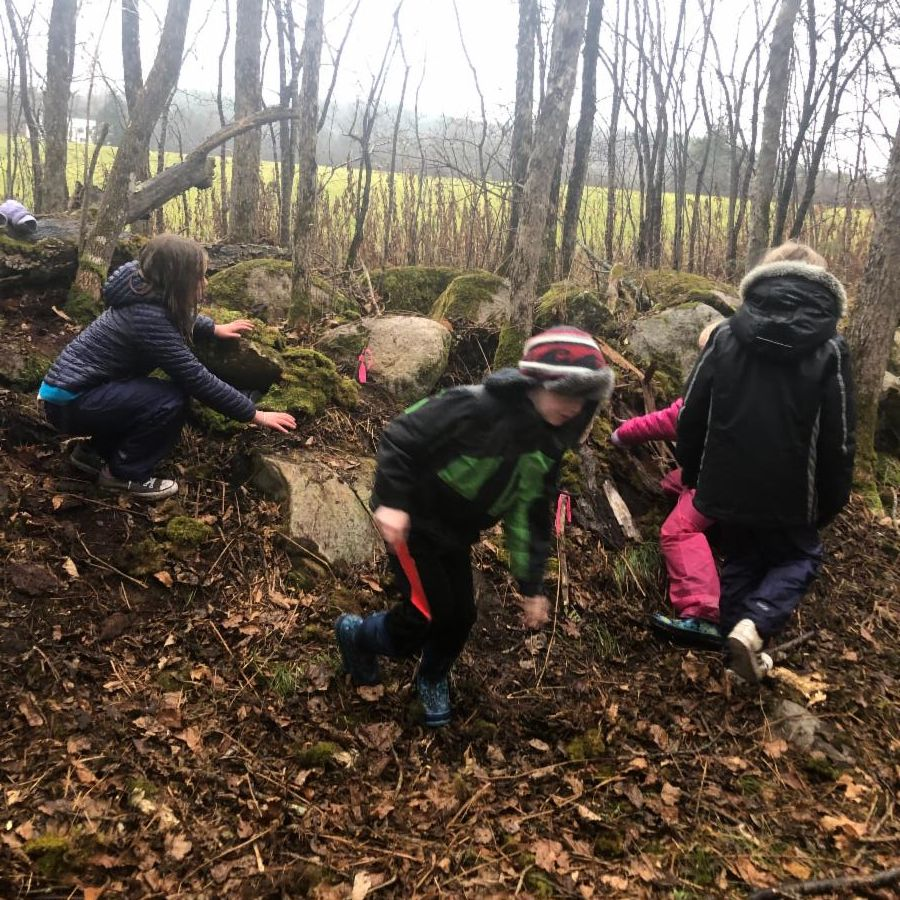 3rd and 4th grade Outdoor Ed class.