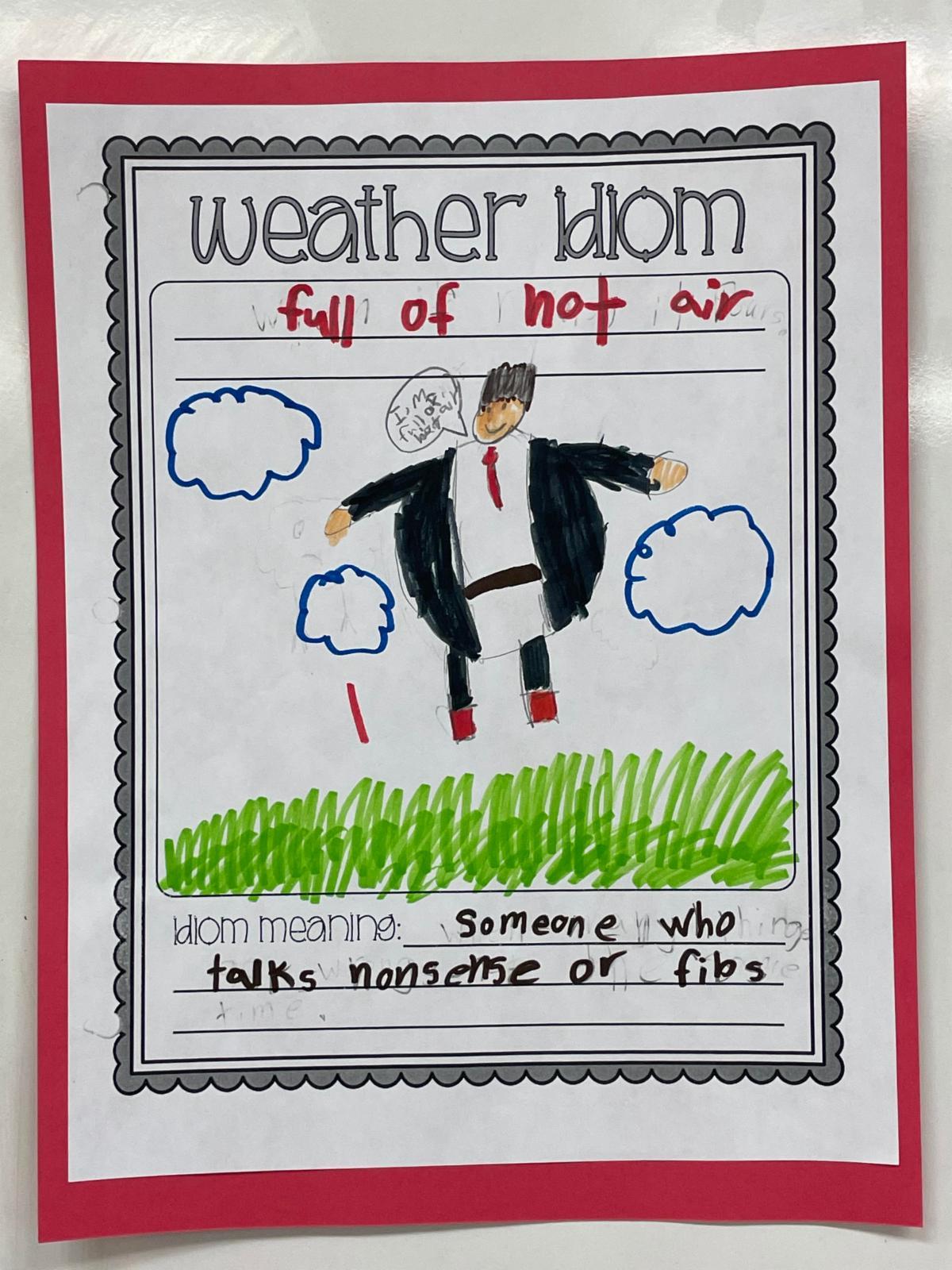 4th grade idiom Full of Hot Air