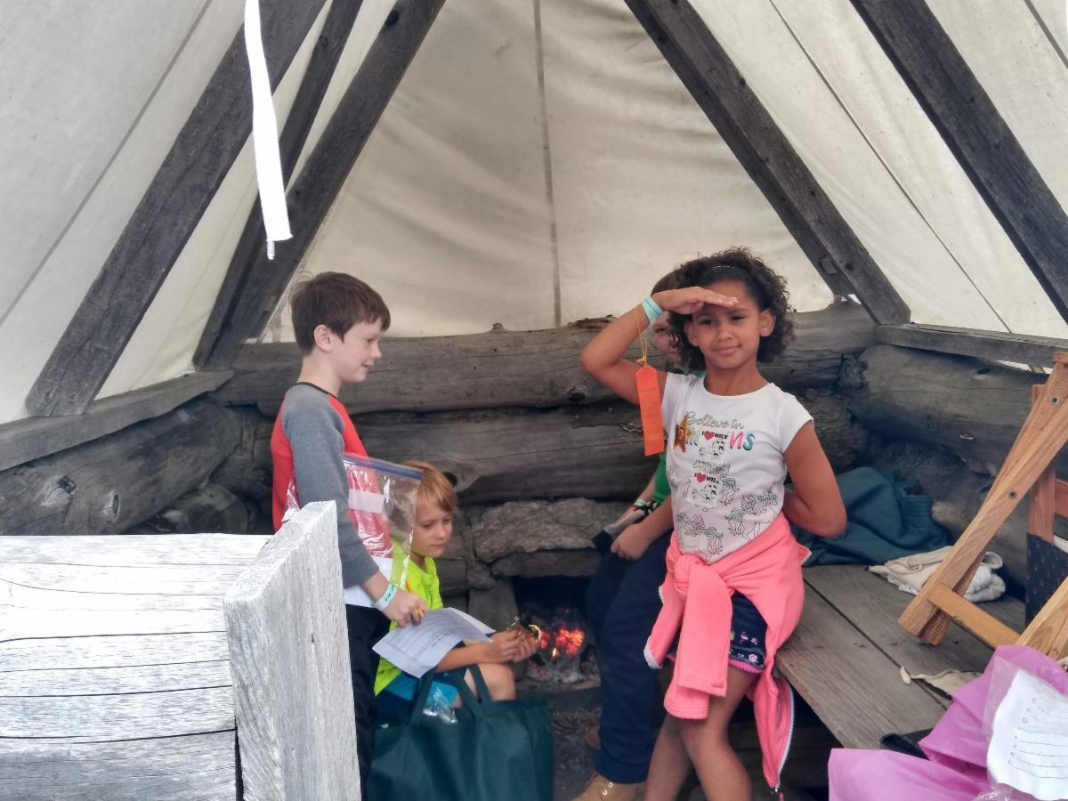 Children at the Tunbridge Fair