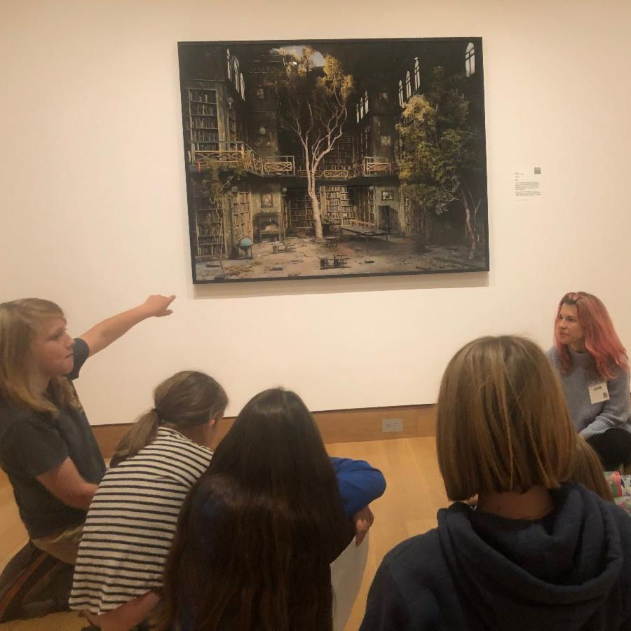 4th graders at the Hood Art Museum