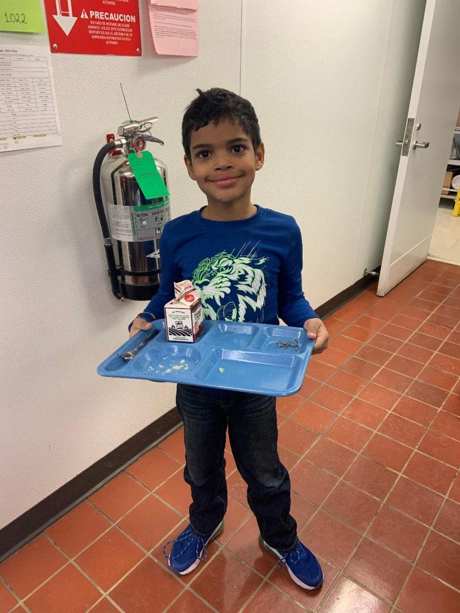 Emmett wins the clean tray award!