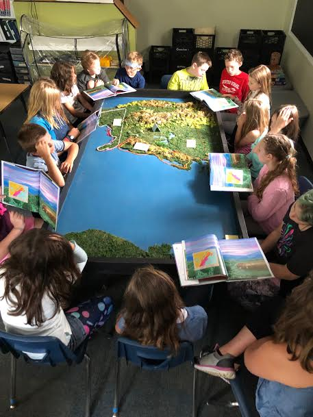 5th and 6th graders learn about British colonization of the Americas