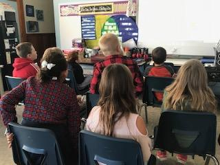 Students learning in the classroom