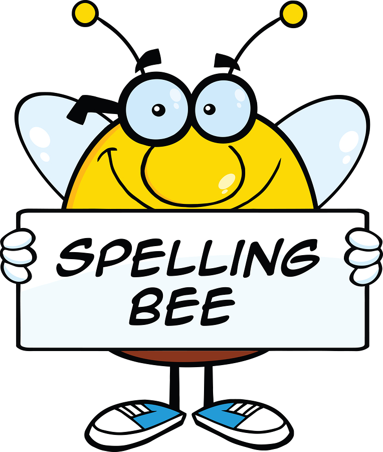 Smiling Pudgy Bee Cartoon Mascot Character Holding A Banner With Text