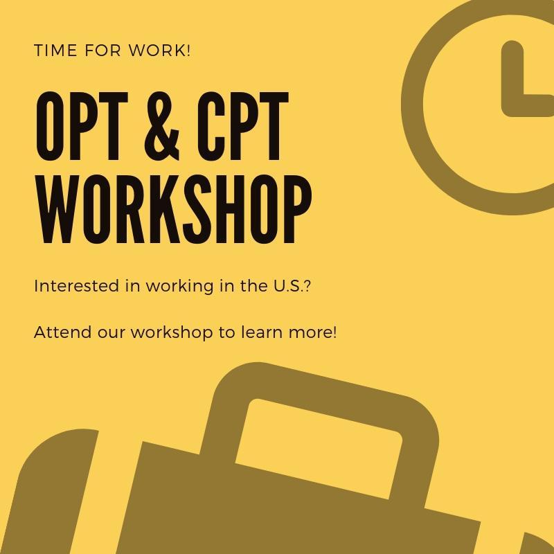 OPT & CPT Workshop