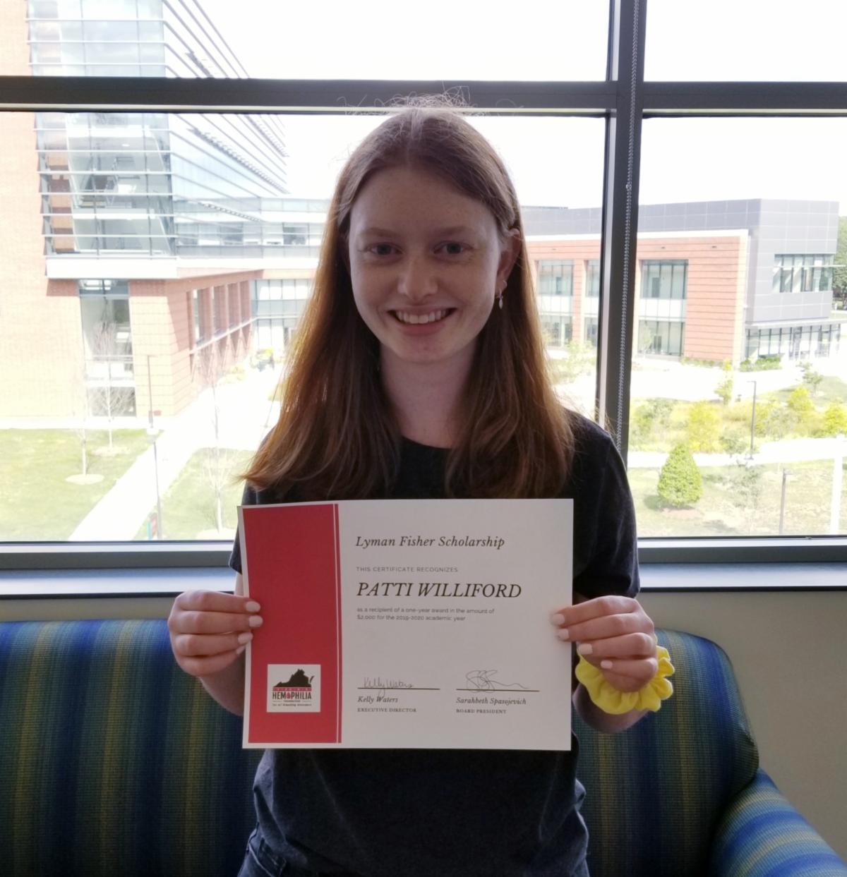 Patti Williford - Lyman Fisher Scholarship