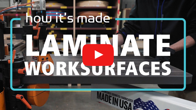 Watch How It's Made: Laminate Worksurfaces