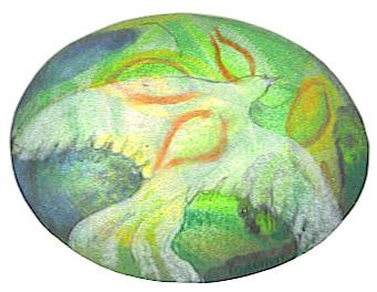 dove in easter egg