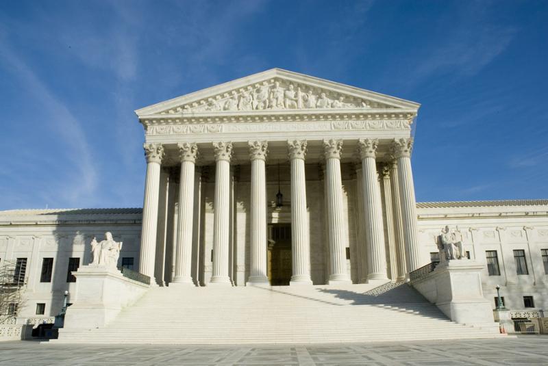 us supreme court in washington dc in bright sunlight
