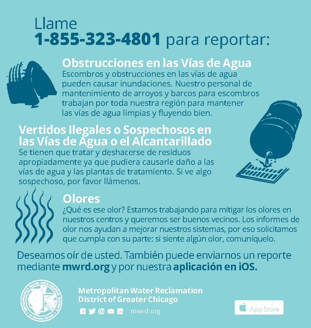 Odor hotline Spanish