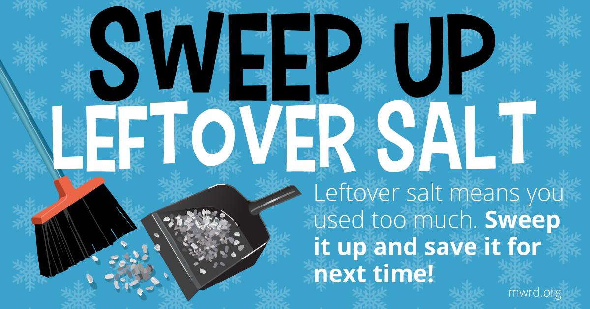 sweep up salt