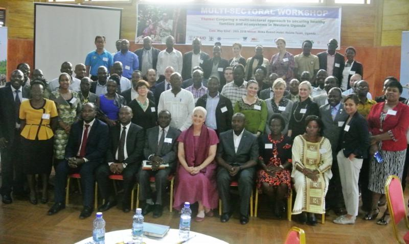 Workshop participants group photo Uganda May2018 photo credit WCS Uganda