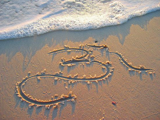 Om on Beach